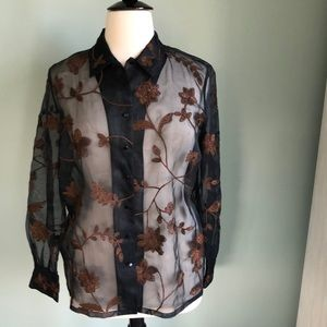 Dana Buchman Woman silk shirt 14